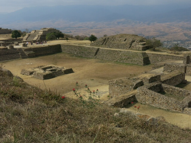 The main plaza at Monte Alban