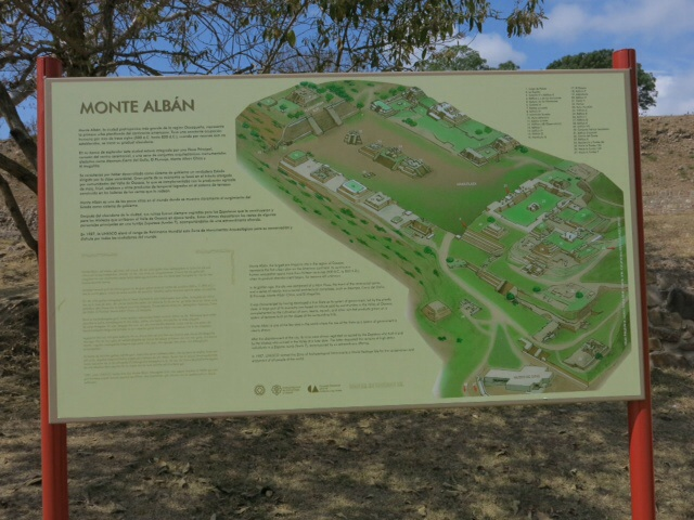 Map of Monte Alban