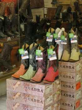 Boot shop in Parral