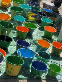 The paint pots