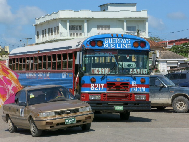 Chicken bus from Belize to St Iganatio