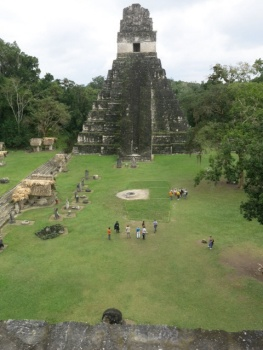 The main plaza at Tikal