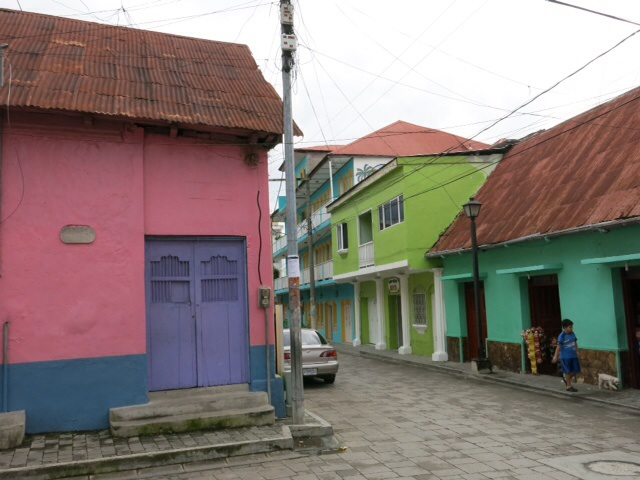 Colourful houses in Flores