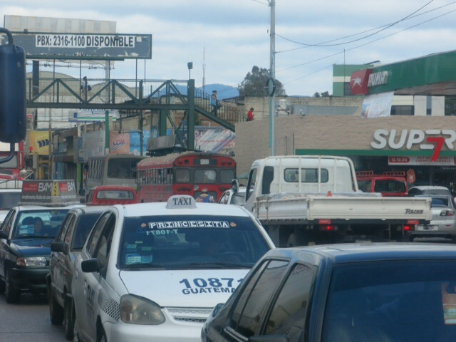 Traffic in Guatemala City