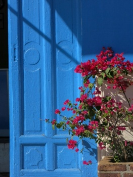 Blue doorway in Granada
