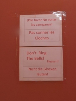 Sign in the church