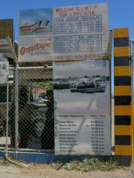 Omatepe ferry timetable