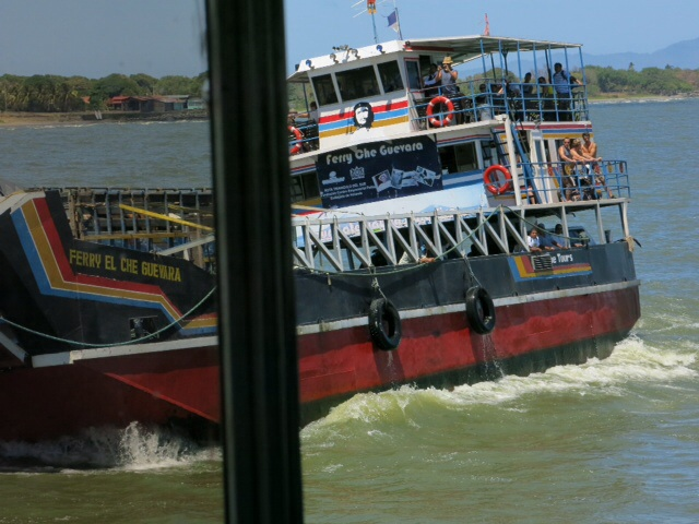 Another ferry returning from Omatepe Island