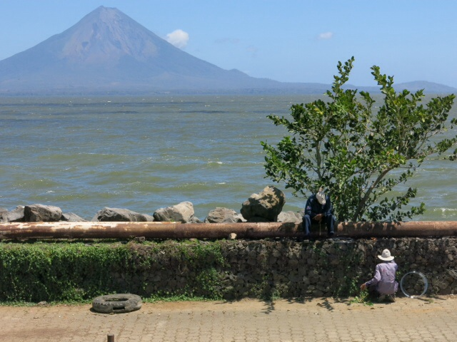 Concepcion volcano from Rivas