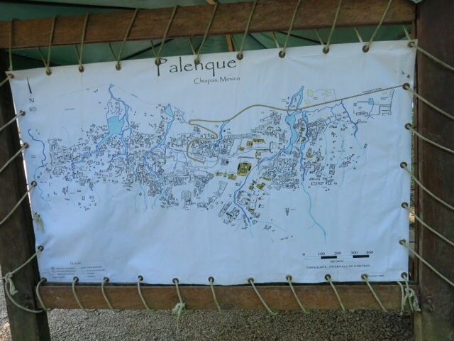 Map of Palenque