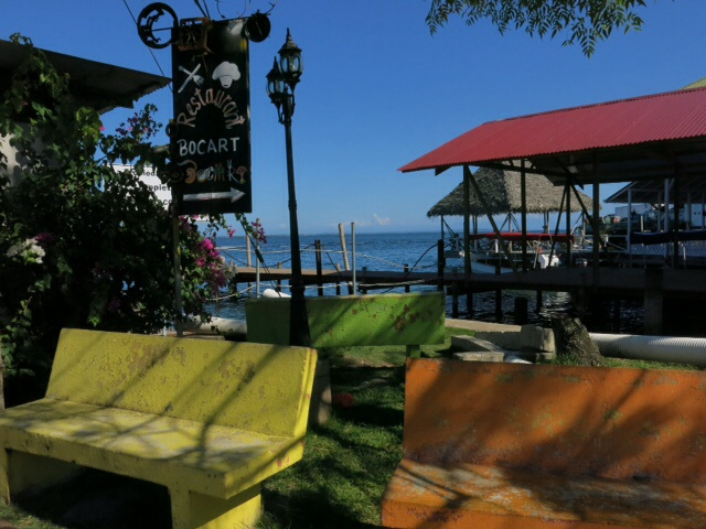 By the water front in Bocas