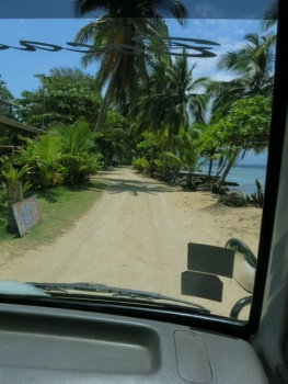 Sand road at Bocas del Drago