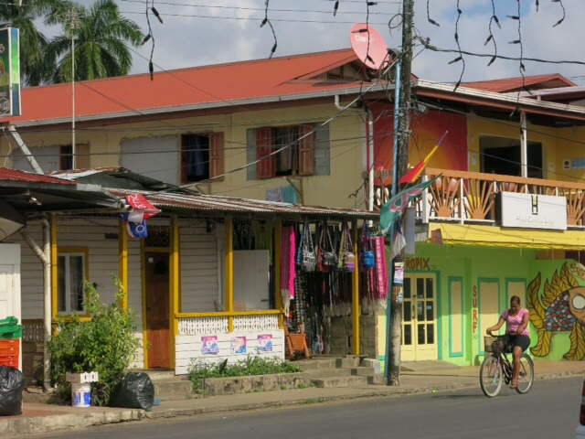 View from the verandah of the bakery in Bocas