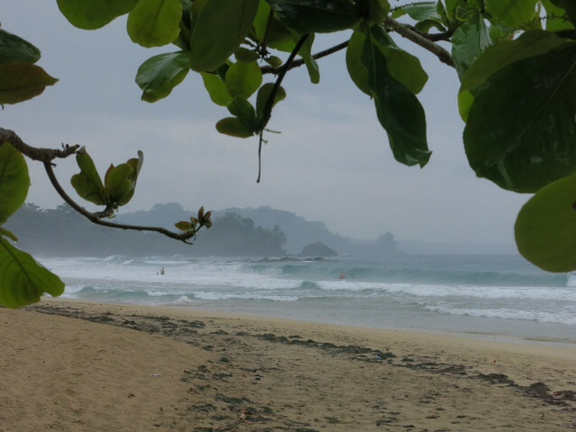 Red Frog beach in the rain