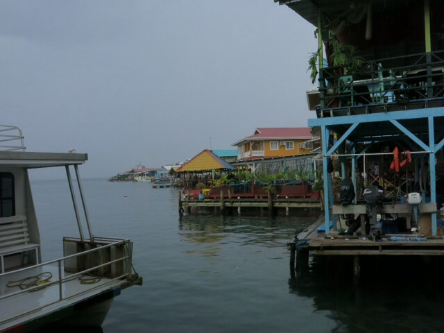 Leaving Bocas in the rain