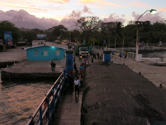 Ferry port on Omatepe