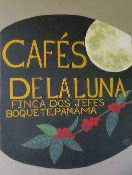 Coffee plantation sign