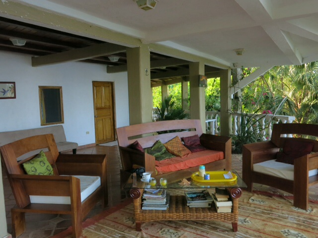 Patio at Coiba House