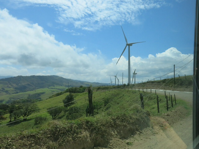 Wind farm on the way to Monteverde