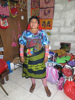 Kuna lady from whom I bought my mola