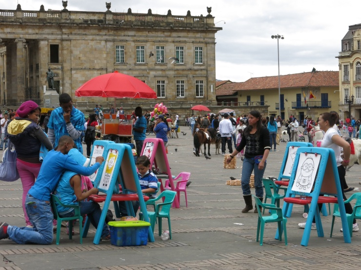 Children's activities in Simon Bolivar Plaza