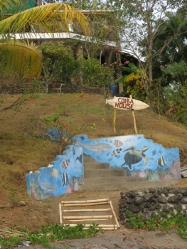 Beach entrance to Coiba House