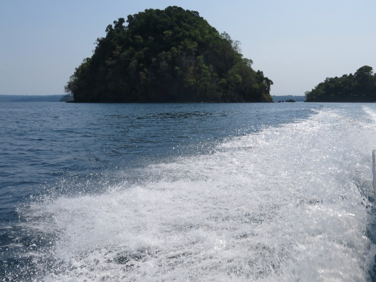 On the boat back from Coiba