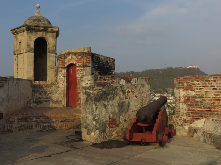 At the fort in Cartagana