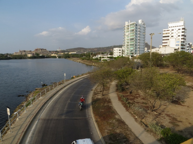View from the bridge near the hotel in Cartagena