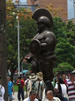 One of Botero's statues