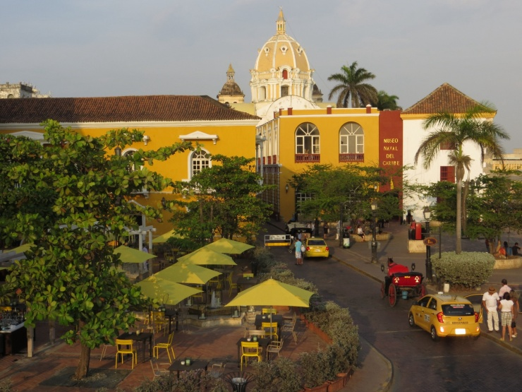 A very yellow part of Cartagena