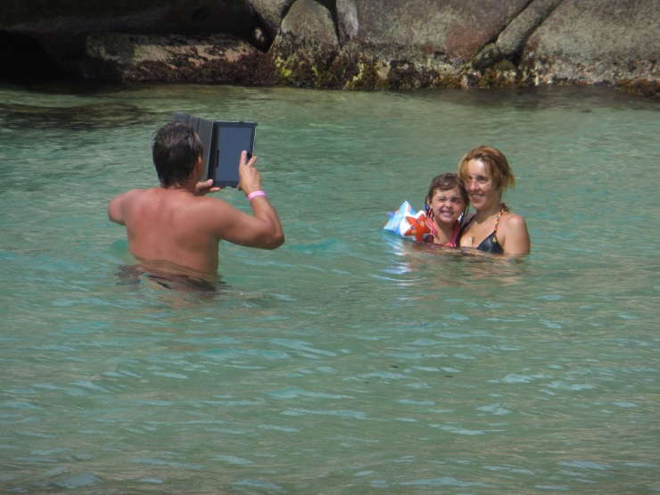 Who would take an ipad into the sea? (And, yes, there were waves!)