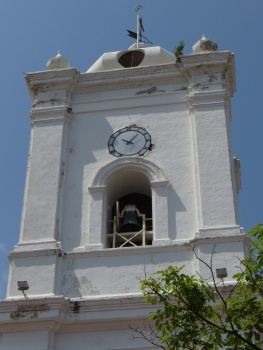 Clock tower of the Cathedral in Santa Marta