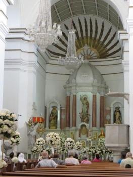 Inside the Cathedral in Santa Marta