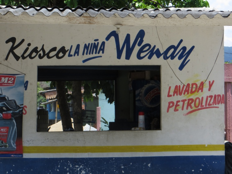 Petrol and laundry - an interesting combination!