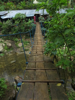 Swing bridge into Cabana 1