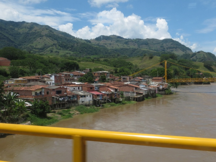 Town on the way to Medellin