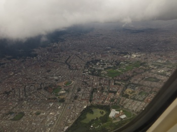 Flying out of Bogota