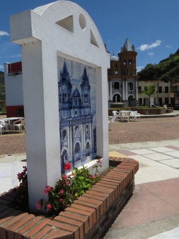 The plaza in the replica town of El Penol