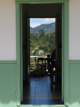 Doorway with a view in El Penol
