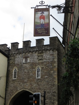 Old battlement in Chepstow