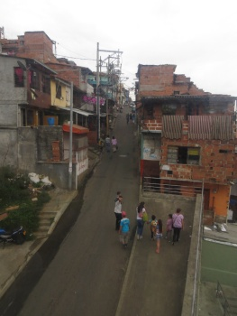One of the poorer barrios in Medellin