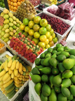 Fruit for sale in the market place