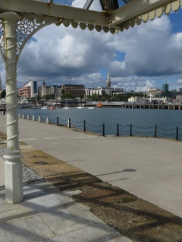 View of Dun Laoghaire from the pier
