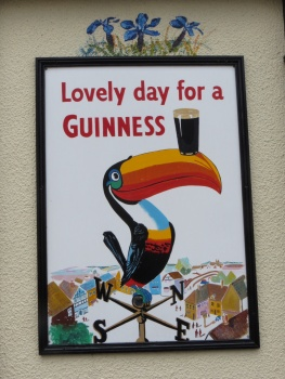 Sign outside a pub in Ballyvaughan
