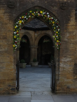 Flowers at the Alms Houses, Sherborne