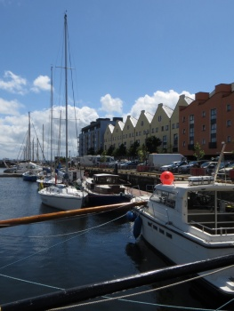 The marina in Galway