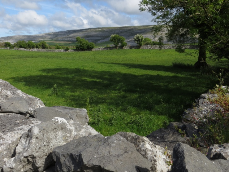 View across from the B & B in Ballyvaughan