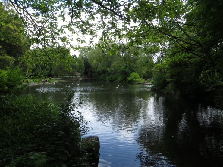 Duck pond in St Stephen's Green