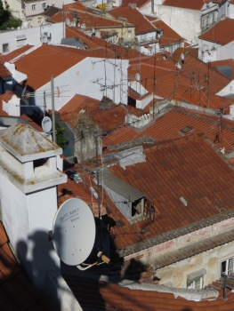 Red roofs and aerials in Lisbon!